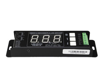 High Frequency PWM DMX 512 Lighting Controller , CV12V - 24V RGB Strip DMX Controller