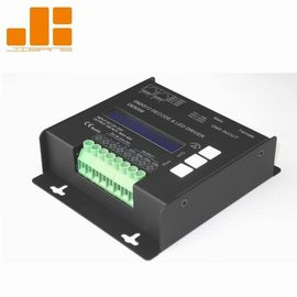 LCD Display Black 4CH DMX Decoder With Micro - Computer Control Technology